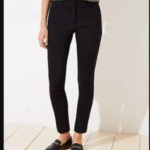 Loft Outlet Curvy Skinny Ankle Black Pants